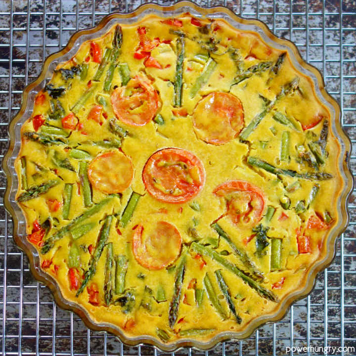 overhead shot of 3-Ingredient Chickpea Flour Frittata