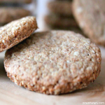 close-up of buckwheat almond shortbread