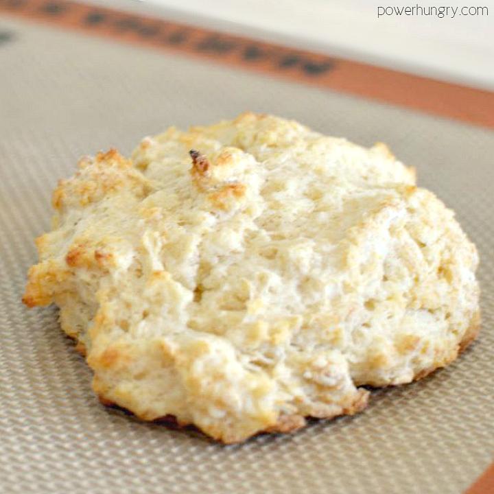 close-up of a vegan irish soda bread biscuit