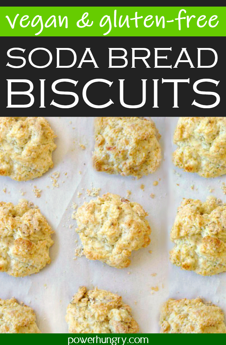 Vegan Oat Soda Bread Biscuits on white parchment paper