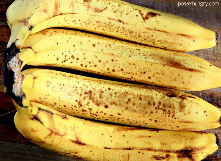 4 very ripe bananas