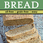 close-up of sliced vegan keto coconut flour bread