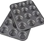 two metal muffin tins