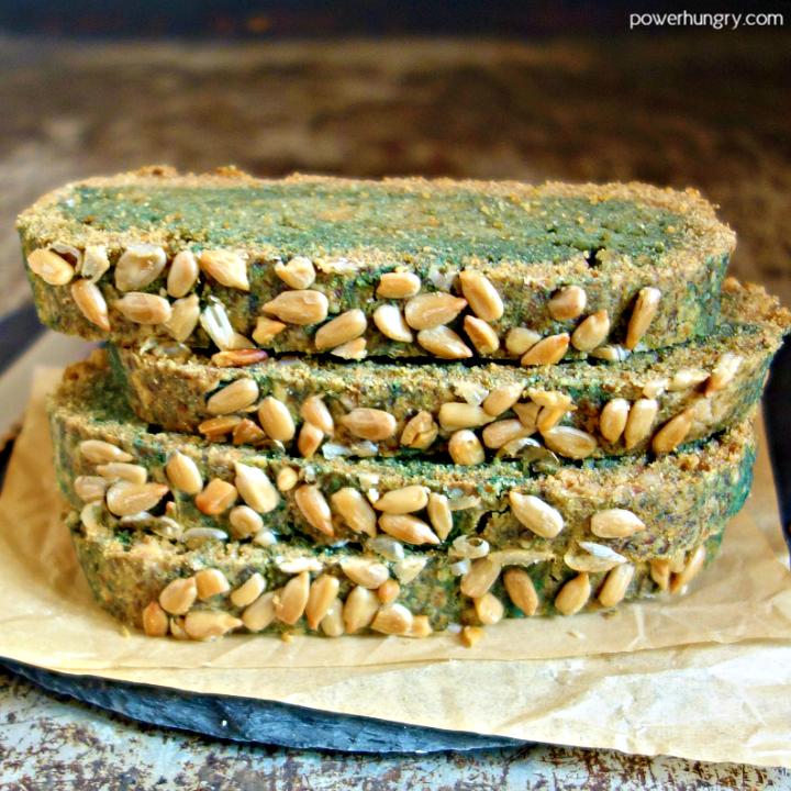 green-blue sunflower seed bread