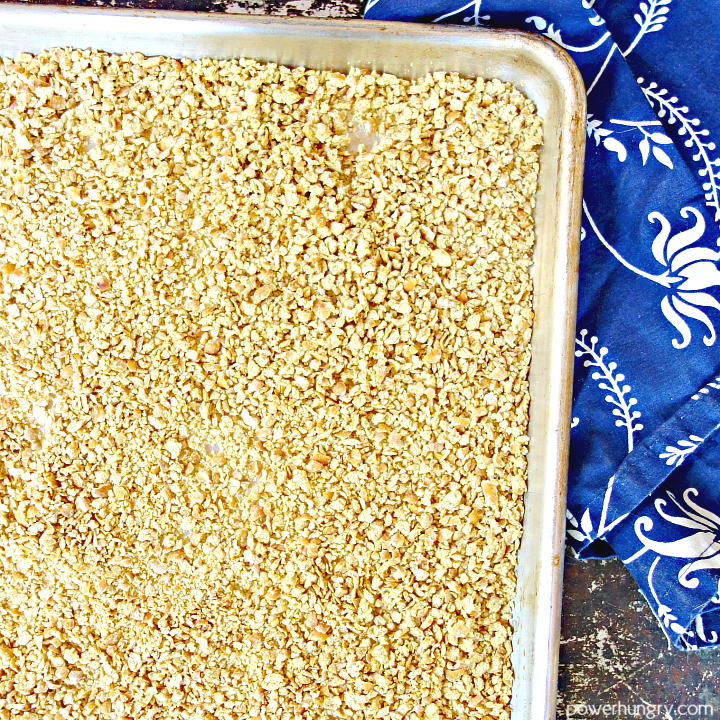 chickpea crumbs on a baking sheet after a second bake