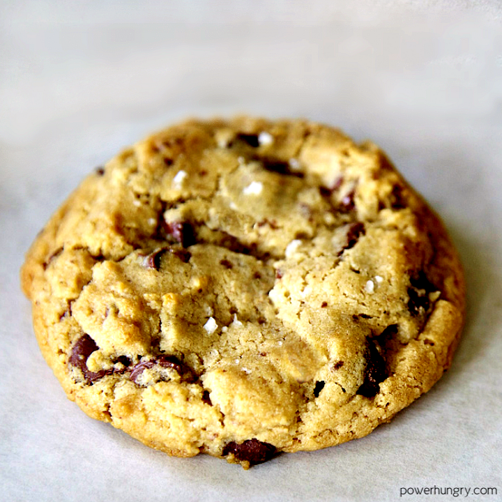 oil-free chocolate chip cookie on a