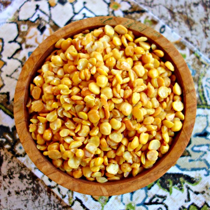 Baked Split Pea-Nuts {nut-free, easy}