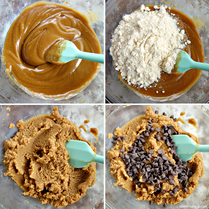 step by step pictures f how to make coconut flour cookie dough