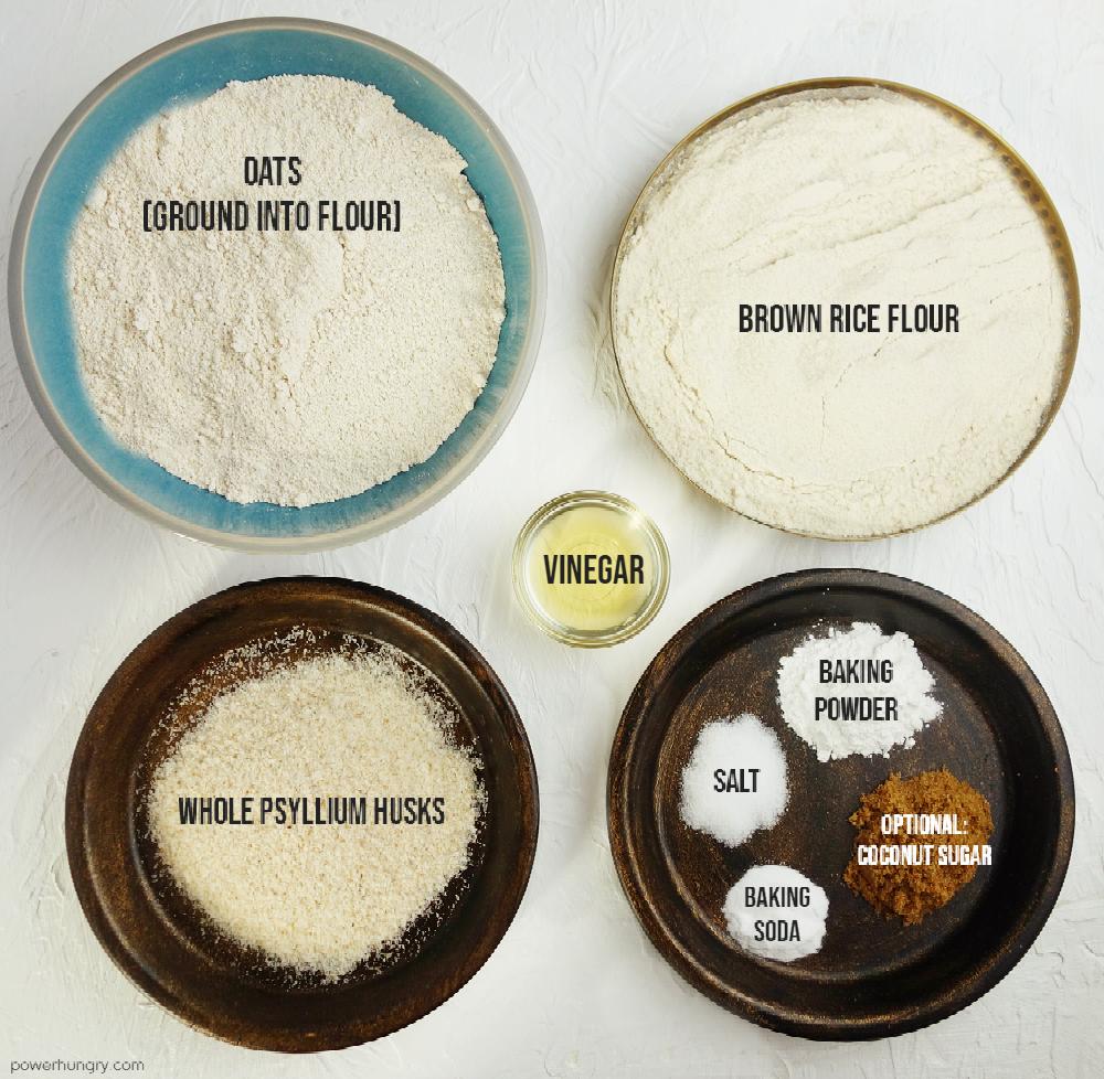 ingredients for oat sandwich bread