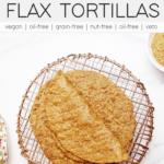 flax tortillas on a copper wire cooling rack
