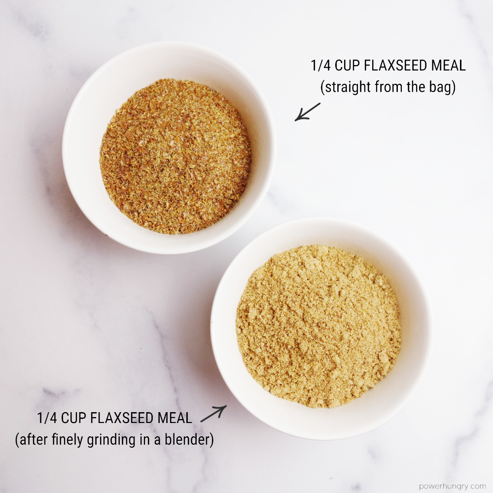 laxseed meal, plain and ground extra fine