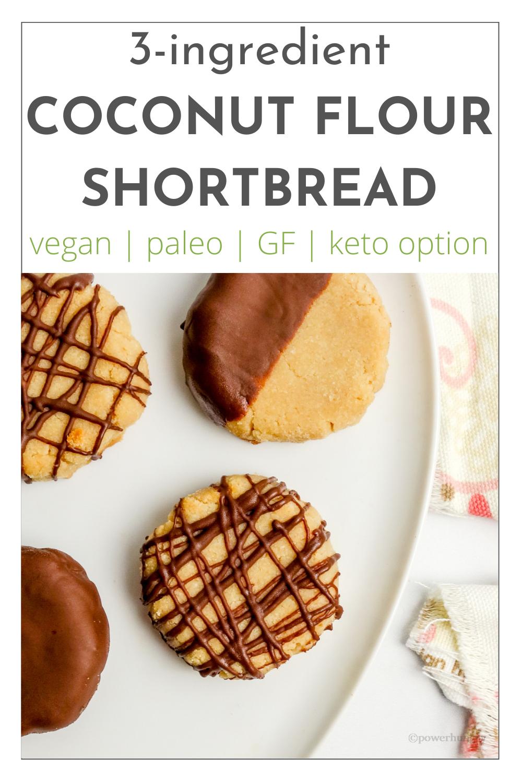 coconut flour shortbread Pinterest image