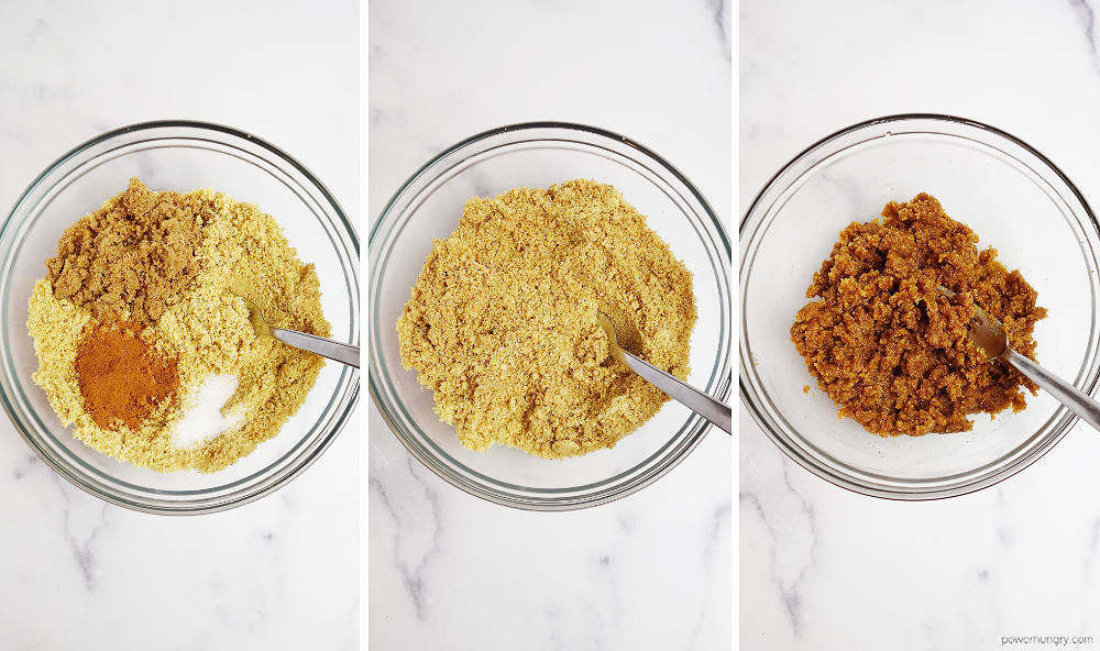 steps for making the 3-ingredient flaxseed meal cookie dough